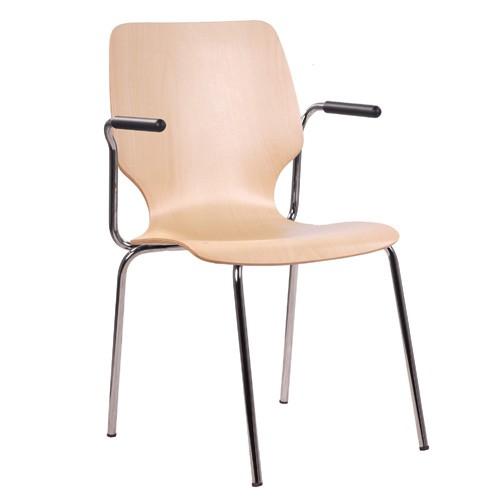 Chaise coque en bois / chaise empilable COMBISIT E20
