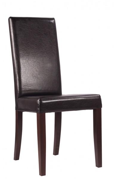 Chaise de restaurant RELA - Marron foncé antique