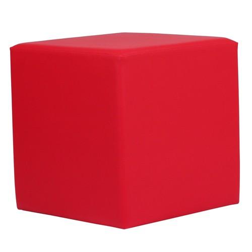 Sitzwürfel CUBO 1 in Kunstleder rot