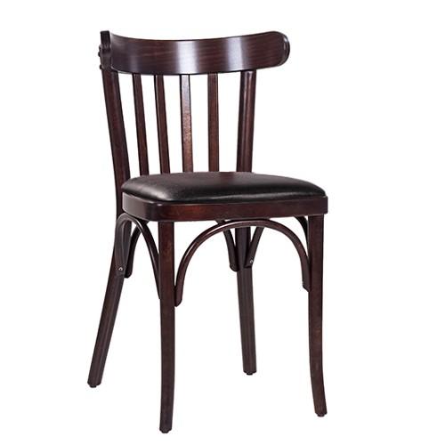 Chaise en bois courbé CLASSICO S21P marron antique