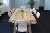Table en bois massif DUKE - vieux bois