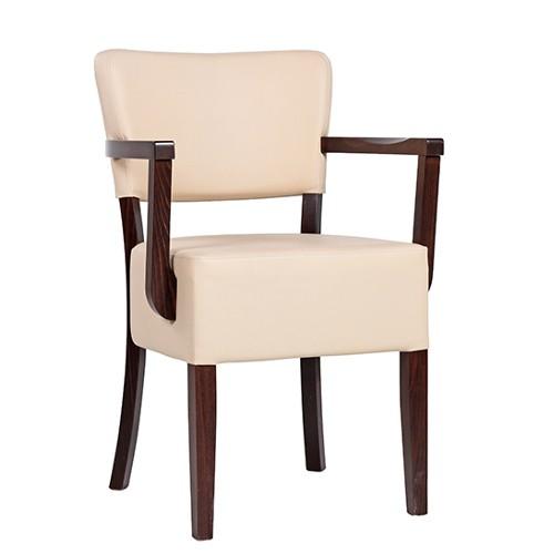 Chaise rembourrée avec accoudoirs TILO AE XL - grande assise