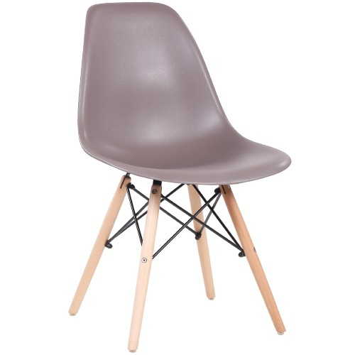 Chaise coque MILA - taupe