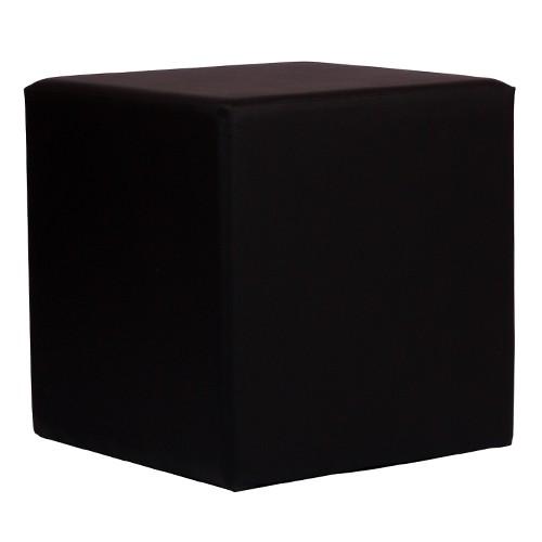 Siège cubique noir KUBIX - 45x45 cm - CUBO 1