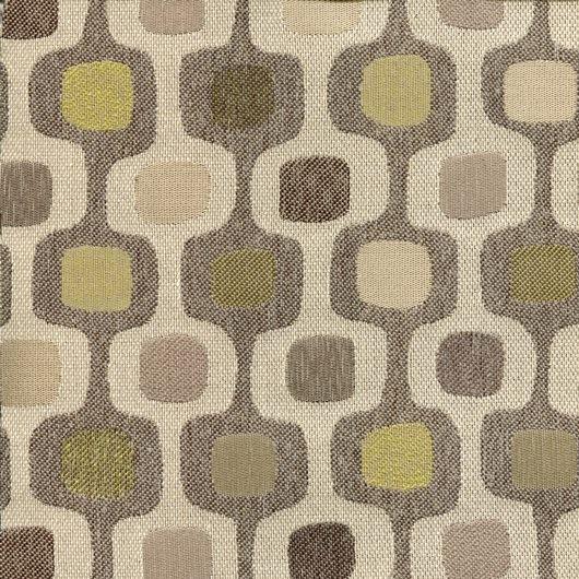 Tissu rétro DRO38 beige / vert