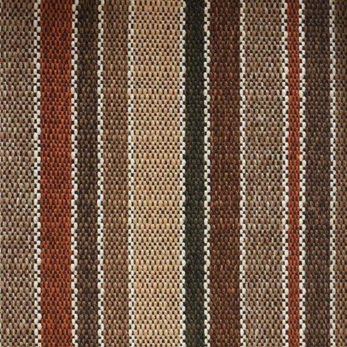 Tissu à rayures SBI74 tuile marron
