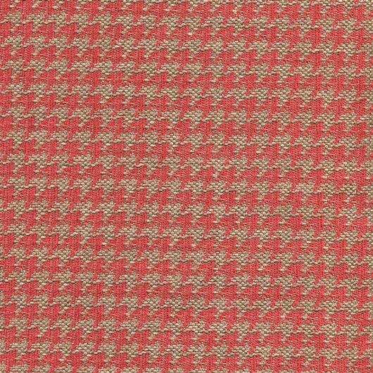 Tissu pied de poule PEP39 beige-rouge