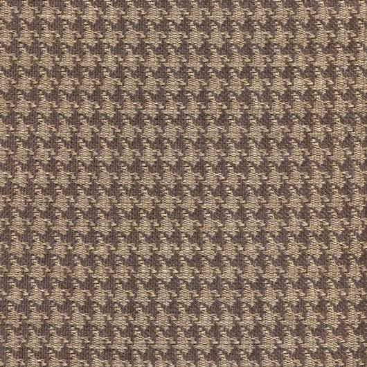 Tissu pied de poule PEP46 beige-marron foncé