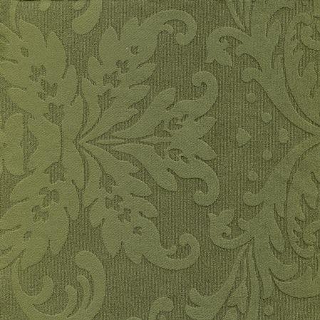 Tissu ornement baroque BD48 vert mousse