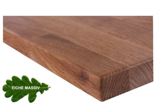 Tischplatte Eiche massiv   40 mm stark