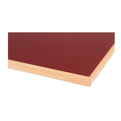 Plateau de table STRATIFIÉ (HPL) bordures bois massif - 26 mm d'épaisseur