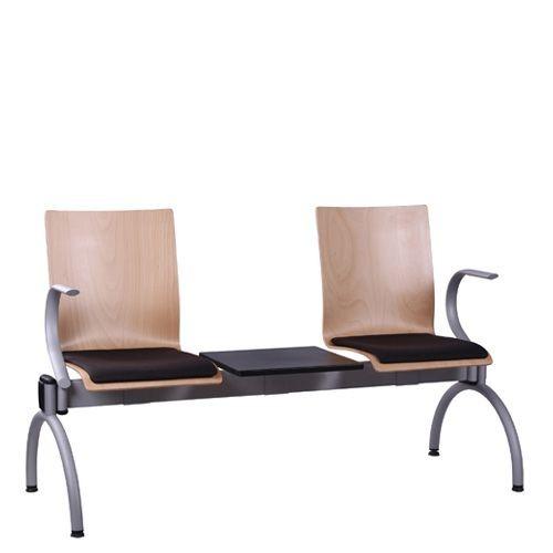 Siège poudre 2 places avec table COMBISIT TC42T ALSP - rembourré - accoudoirs