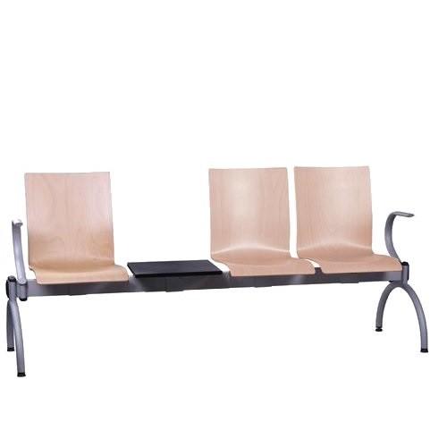Siège poutre 3 places avec table COMBISIT TC43T AL - accoudoirs