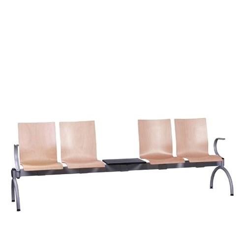 Siège poutre 4 places avec table COMBISIT TC44T AL - accoudoirs