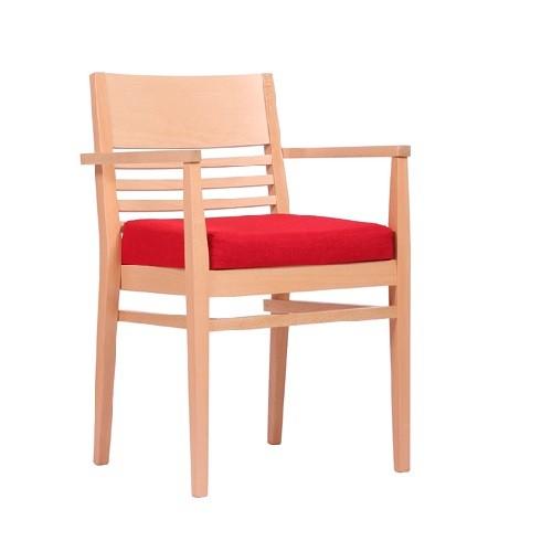 Chaise avec assise cunéiforme LAURIN P AL  - empilable