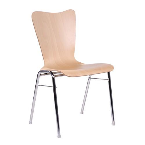 Chaise coque en bois / chaise empilable COMBISIT A80