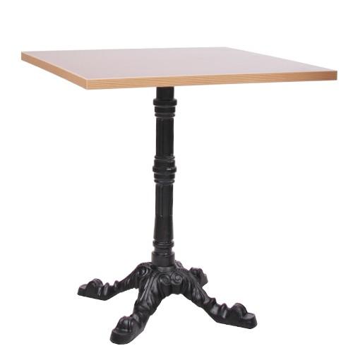 Tisch LEON mit Laminat-Tischplatte 25 mm Multiplex-Kante 70x70 cm
