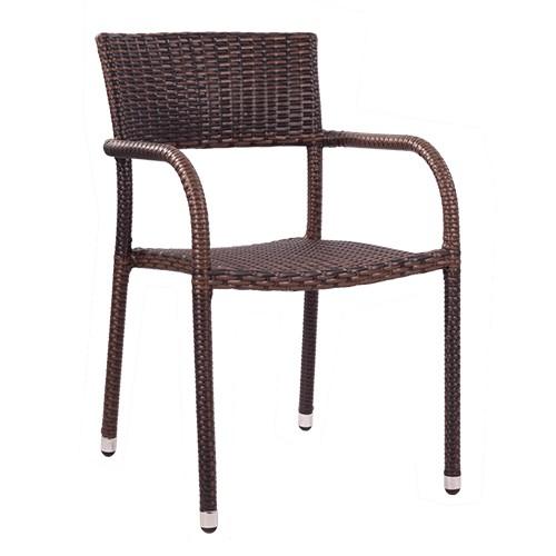 Chaise de terrasse LONA avec accoudoirs - empilable