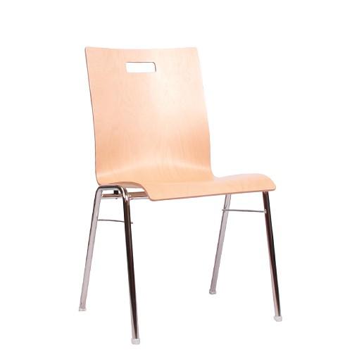 Chaise coque en bois / chaise empilable COMBISIT A40G