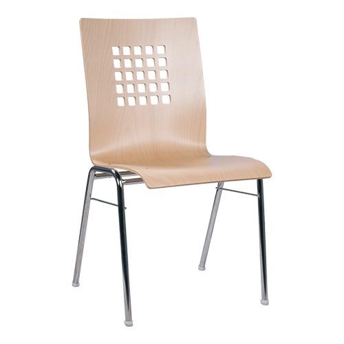 Chaise coque en bois / chaise empilable COMBISIT A41