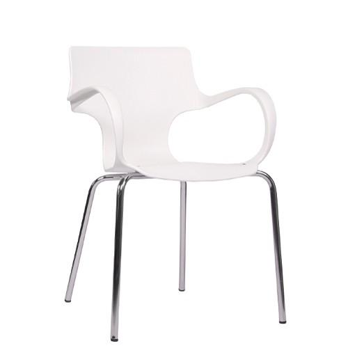 Chaise avec accoudoirs FLORES - blanche