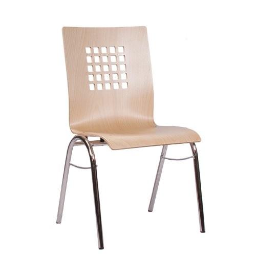 Chaise coque en bois / chaise empilable COMBISIT B41