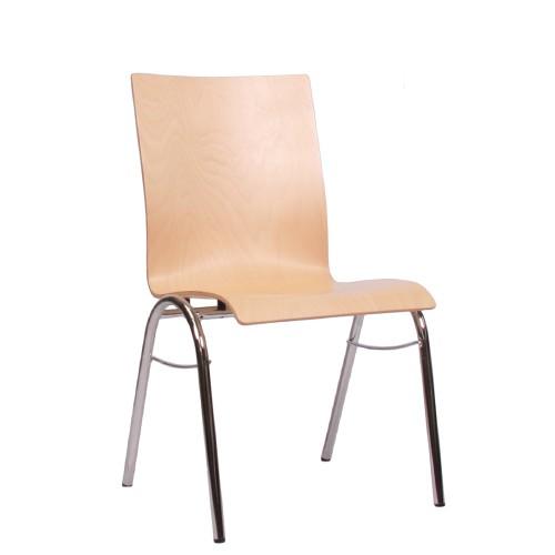 Holzschalenstuhl / Stapelstuhl COMBISIT B40 ohne Sitz- und Rückenpolster