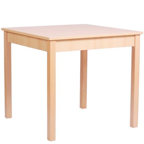 Table en bois KIAN 88 (80 x 80 cm) hêtre naturel