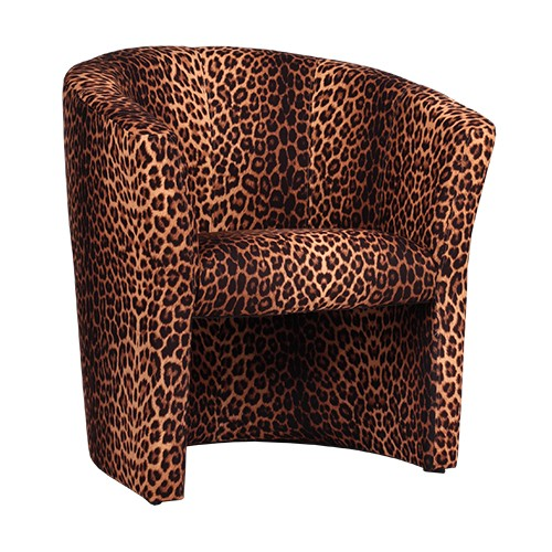 Clubsessel CARLO mit Stoff Tierfell-Imitat Leopard