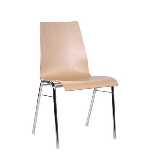 Chaise coque en bois / chaise empilable COMBISIT A51