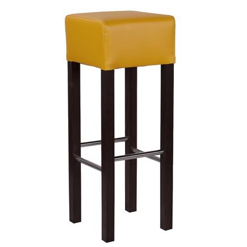 Tabouret de bar FABIO IX - repose-pieds inox