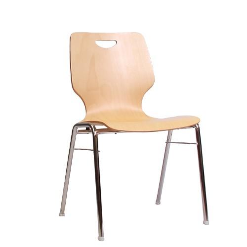 Holzschalenstuhl / Stapelstuhl COMBISIT A20G mit Griffloch ohne Sitzpolster