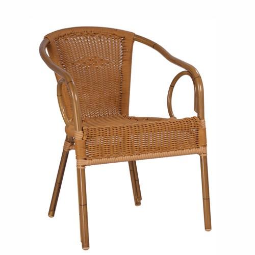 Chaise de terrasse avec accoudoirs LORETTA - empilable