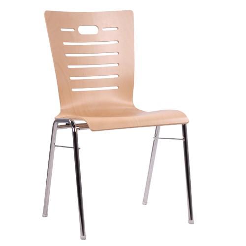 Chaise coque en bois / chaise empilable COMBISIT A70