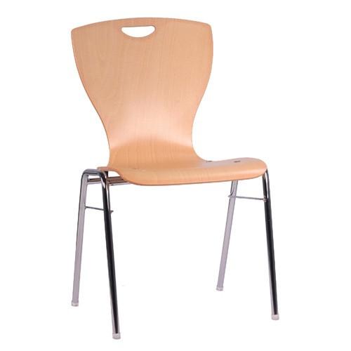 Chaise coque en bois / chaise empilable COMBISIT A60G