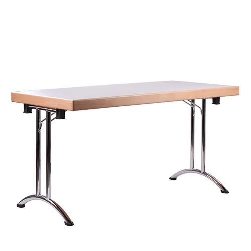 Table pliante MBC 65 avec bordure en bois massif