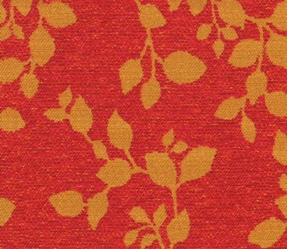 Tissu motifs feuilles AQC2167 rouge-bronze