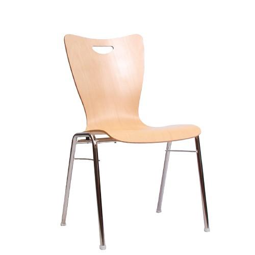 Chaise coque en bois / chaise empilable COMBISIT A30G