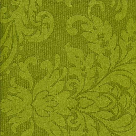 Tissu ornement baroque BD38 vert