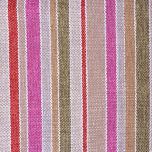 Tissu à rayures SBI24 marron-rose