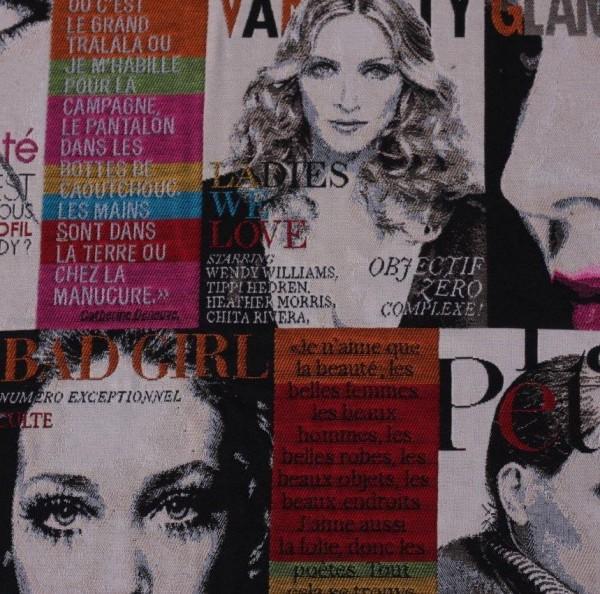Tissu magazine de mode couleur