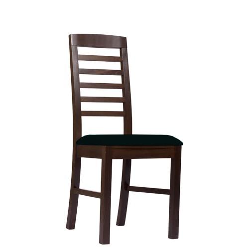Chaise en bois BIANCA P - noyer foncé - noire
