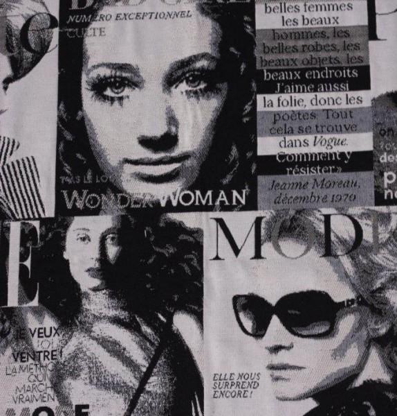 Tissu magazine de mode noir/blanc