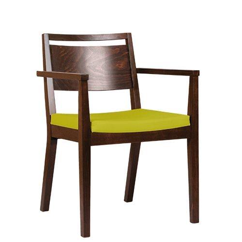 Chaise en bois LUCAS P AL - avec accoudoirs