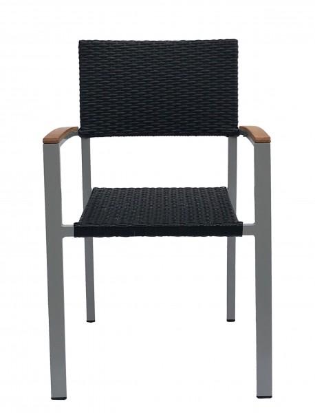 Chaise de terrasse avec accoudoirs TIMOR W - empilable