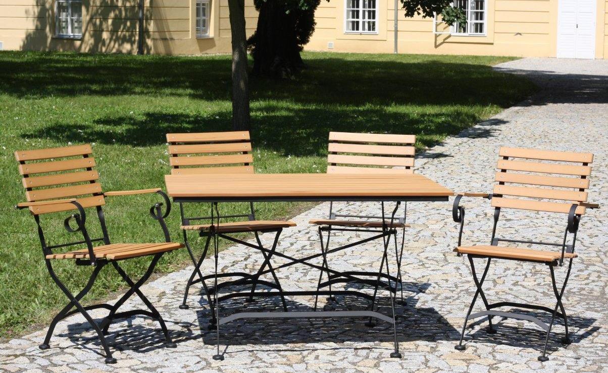 table de brasserie d 39 ext rieur senja 128 teck pliable tables de terrasse tables. Black Bedroom Furniture Sets. Home Design Ideas